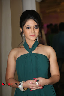Actress Shriya Sharma Pictures in Long Dress at Nirmala Convent Audio Launch 0004.JPG