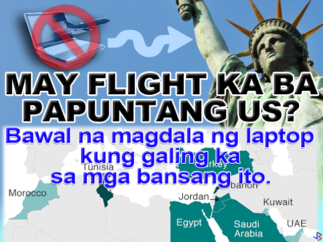 LAPTOPS BANNED ON FLIGHTS TO US