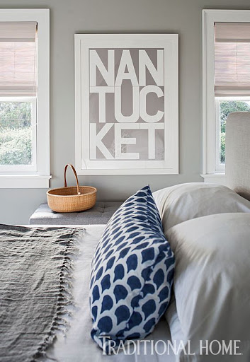 Coastal Destination Nantucket Typography Modern Print