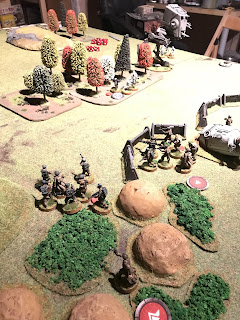 Even under fire the Rebels remained firm