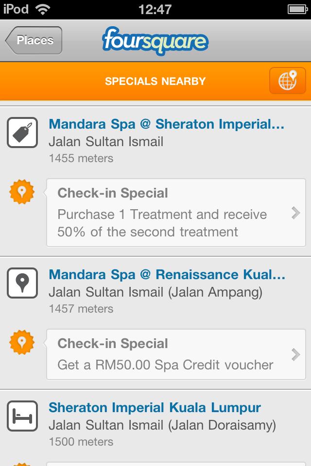 Foursquare Specials in Kuala Lumpur | Ice Cream for Everyone