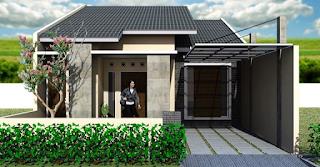 rumah sederhana tingkat belakang