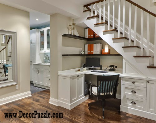 Innovative under stairs ideas and storage solutions, home office under stairs
