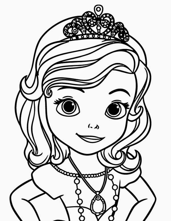 Fun learn free worksheets for kid for Sofia the princess coloring pages