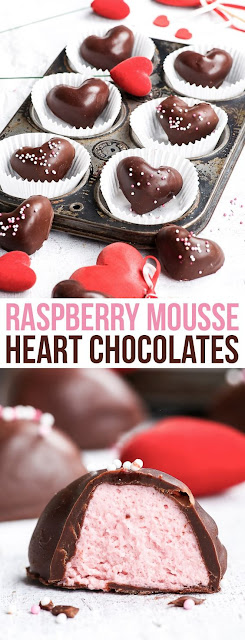 Raspberry Mousse Heart Chocolates