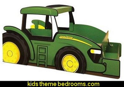 John Deere Twin Bed   theme beds - novelty furniture - woodworking bed plans - unique furniture - novelty furniture - themed furniture - themed beds - castle themed bed - castle loft beds - boat bed - Pirate Ship Bed - BATMOBILE BED - train bed - princess carriage beds - Doll house Beds
