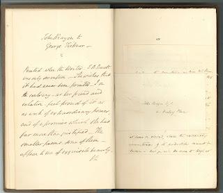 An open book of handwritten text.