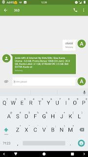 cara cek kuota internet Indosat