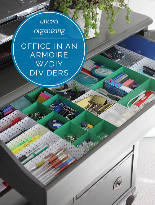 Uheart Organizing Office In An Armoire (with Diy Paper