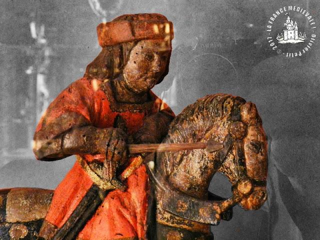 DIJON (21) - Musée d'Art Sacré : Baton de procession de Saint-Georges (XVe siècle)