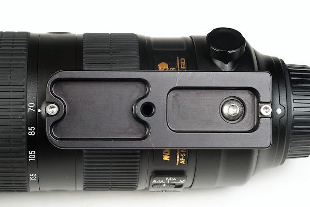 Hejnar H128 Replacement Foot on Nikon 70-200mm f/2.8E FL ED VR bottom