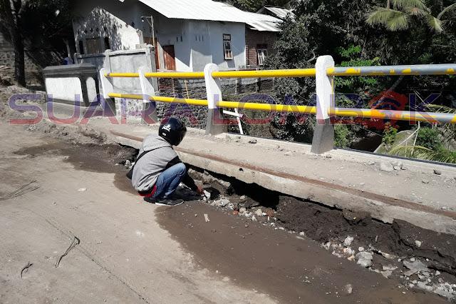 Jembatan Pendopo Bupati Rusak, Ternyata Ini Penyebabnya