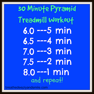 30 Minute Treadmill Pyramid Workout