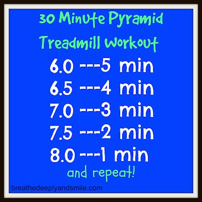 30 Minute Treadmill Pyramid Workout