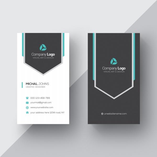 High-end vertical business card design template free psd