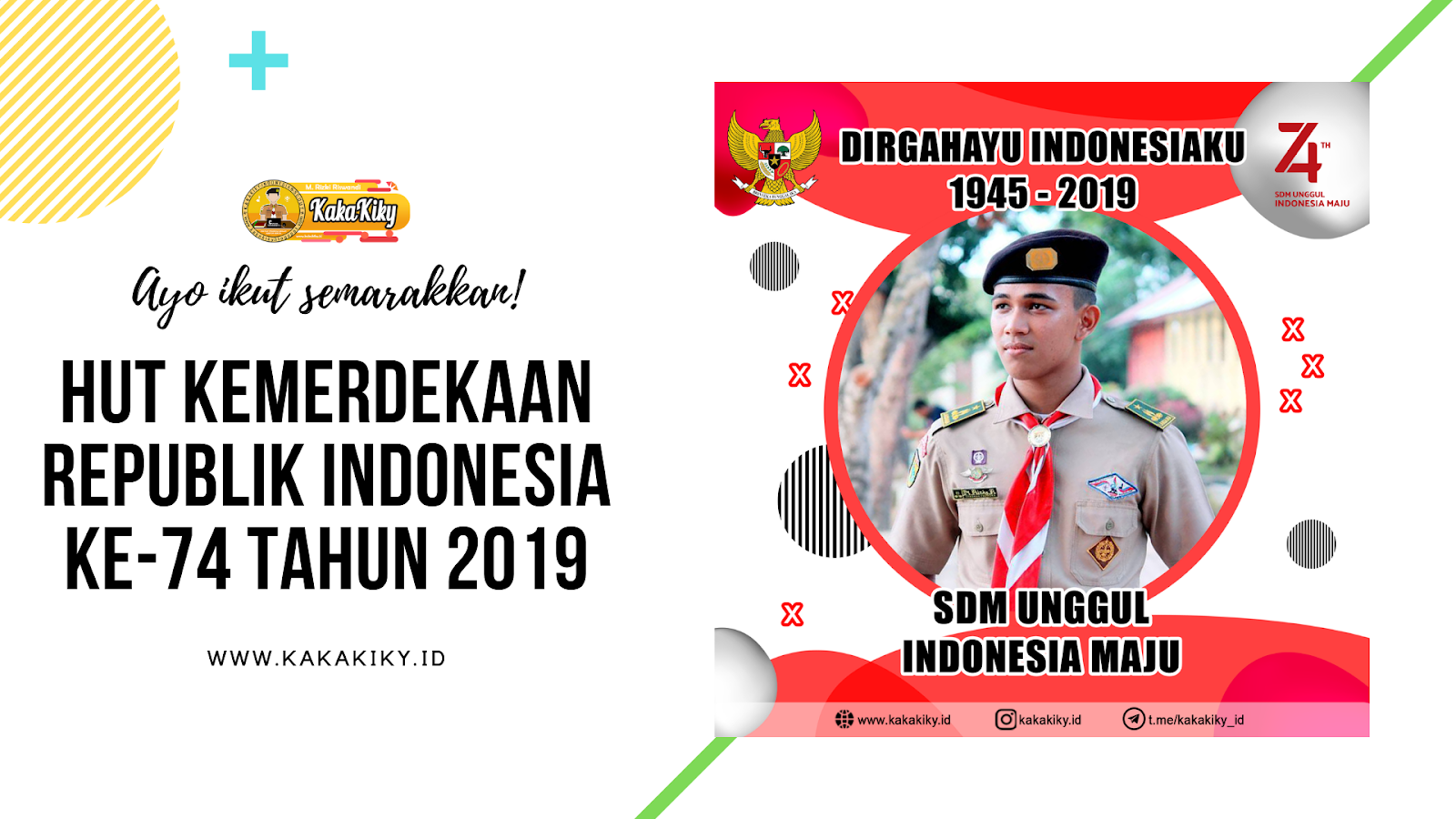 Download Twibbon Bingkai Foto Hut Republik Indonesia Ke 74 Kakakiky Blog Edukasi