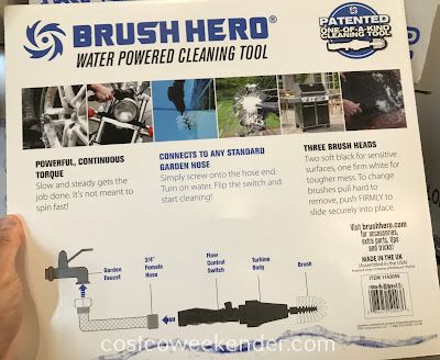 Easily clean in between the spokes of your wheels with the Brush Hero Water Powered Wheel Cleaning Tool