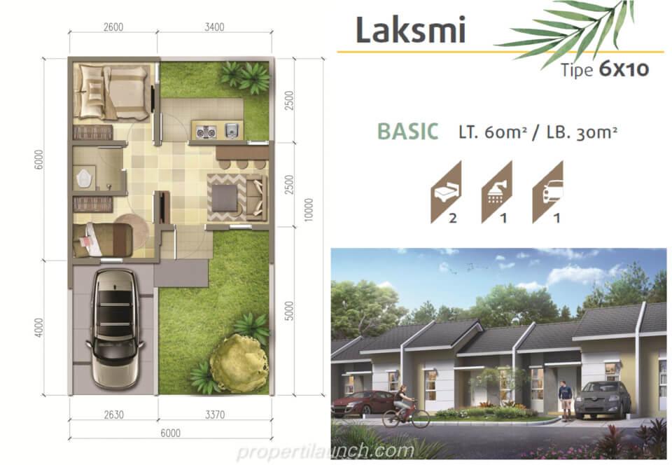 Denah Rumah Srimaya Residence Tipe L6