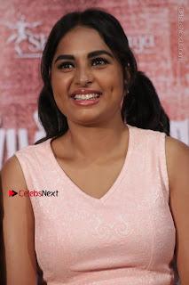 Actress Srushti Dange Stills in Short Dress at Mupparimanam Press Meet  0024.jpg