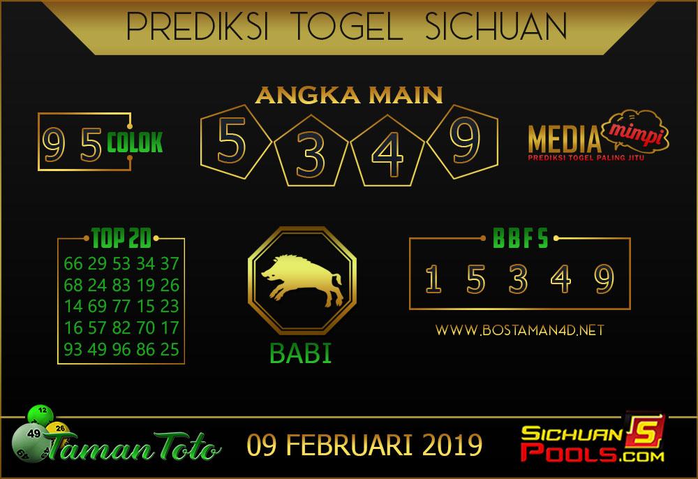 Prediksi Togel SICHUAN TAMAN TOTO 09 FEBRUARI 2019