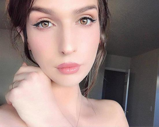 Beautiful trans girl with beautiful eyes
