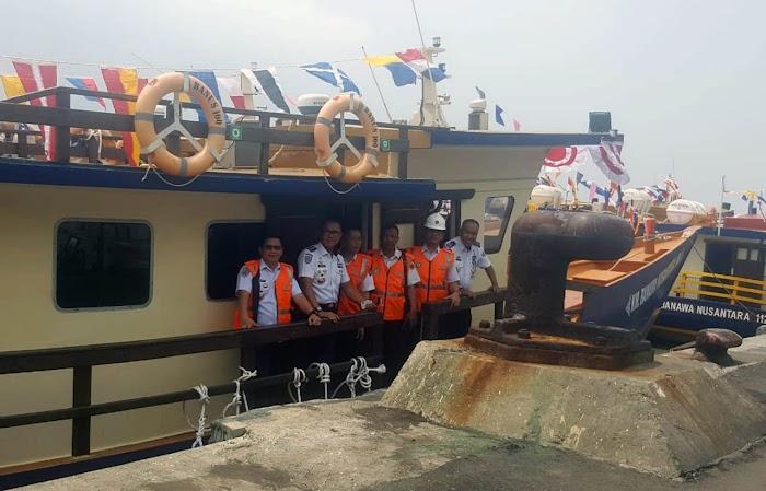 Pemerintah kabupaten Lamsel  Terima Hibah Kapal Pera Dari Kementerian Perhubungan RI.