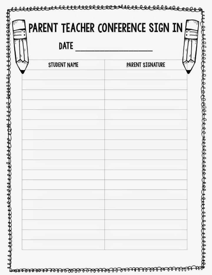 parent sign in sheet graduation classroom party signup sheet