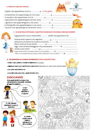 gli aggettivi possessivi pdf alma