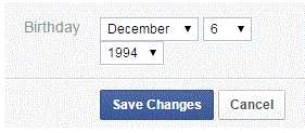 How To Change Date Of Birth On Facebook