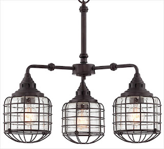 Savoy House industrial style chandelier