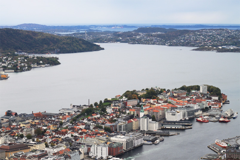 View Of Bergen Norway