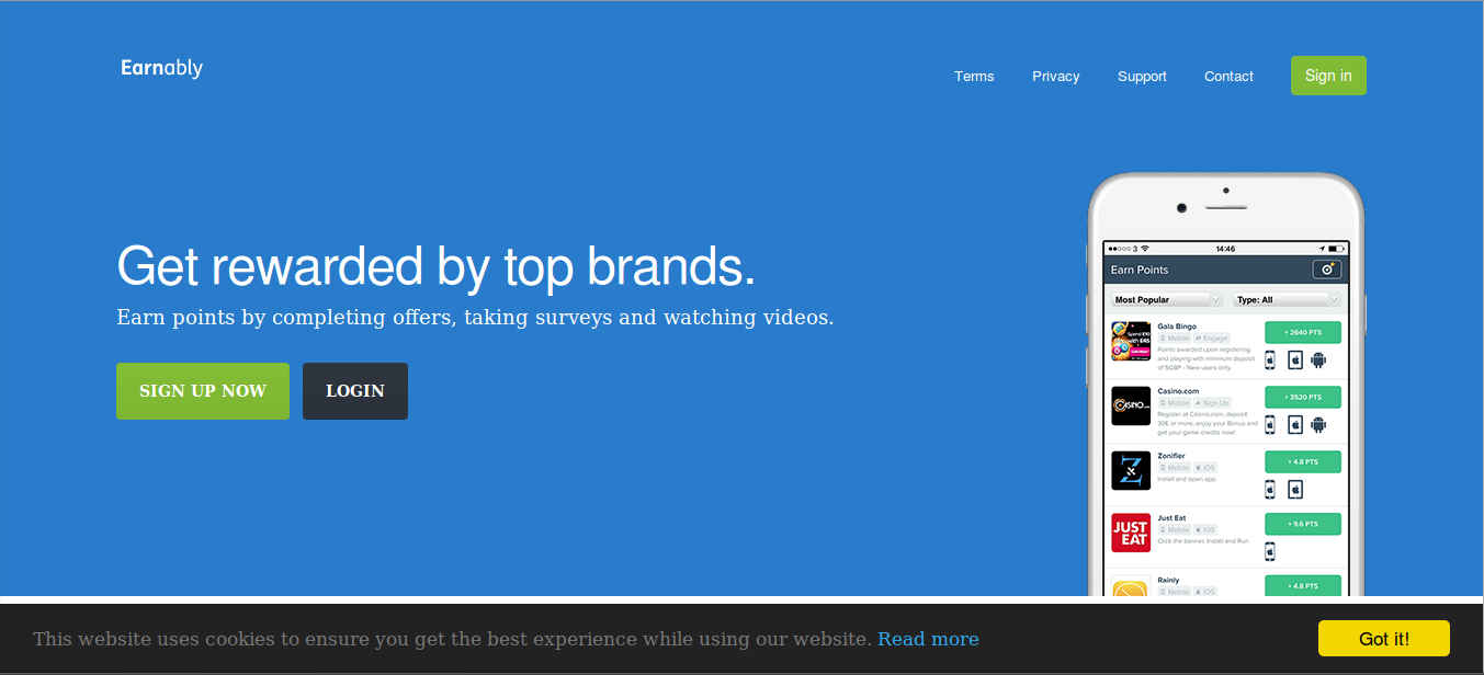 earnably.com-homepage