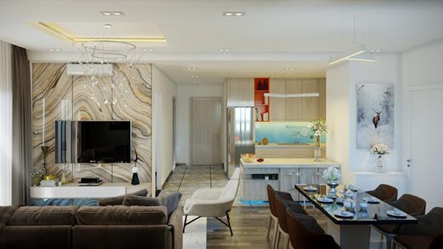 Thiết kế căn hộ mẫu tạiTrung tâm thương mại dịch vụ bất động sản Hạ Đình