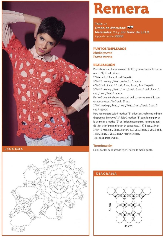 suéter calado crochet, patrones ganchillo, motivos jerséis tejidos