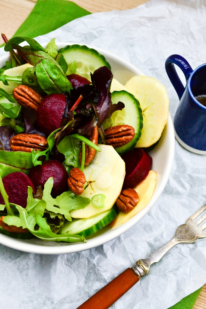 Apple, Beet and Pecan Salad