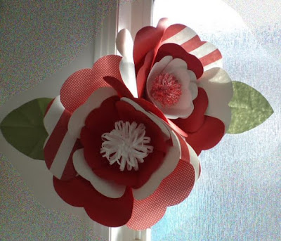 Canada Day paper flowers by eSheep Designs