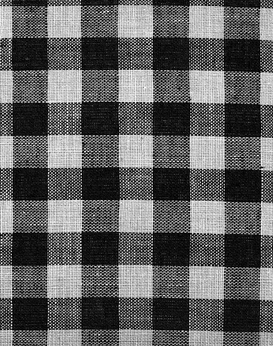 black gingham cloth in a color photograph