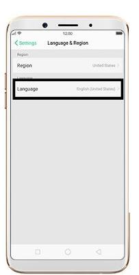 Cara merubah bahasa di Oppo F7 dari bahasa default