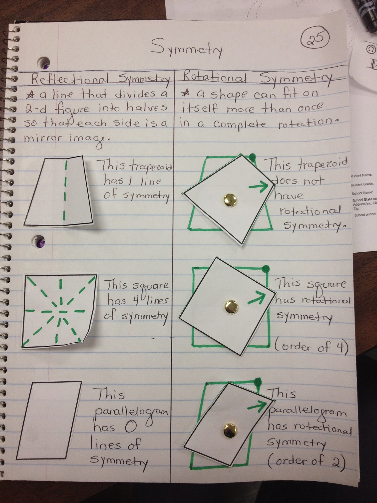 Math With Mrs D Symmetry