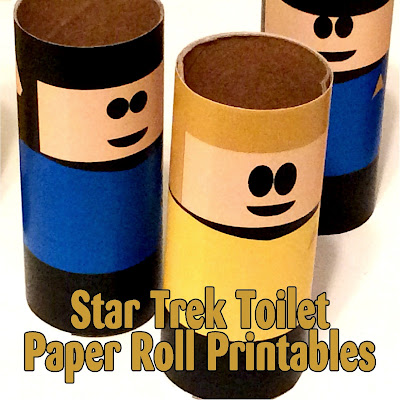 Boldly Go where no one has gone before with these fun printable toilet paper roll characters.  This set features your favorite Star Trek bridge crew so you'll be exploring the universe in no time at all.