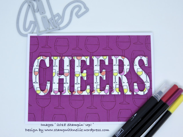 Half Full, Large letters, Stampin Up