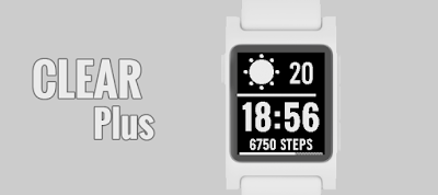CLEAR Plus watchface for Pebble 2