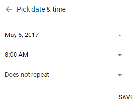 Google Keep reminder