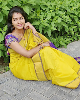 Actress Rachitha Dinesh Latest saree pics