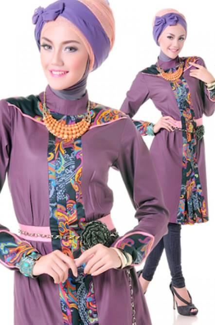 10 Model Baju Batik Muslim Remaja Desain Terbaru 2017