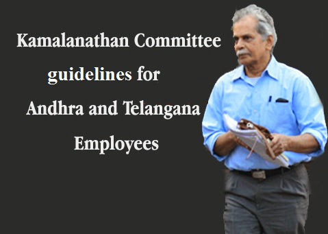 Kamalanathan Committee's Employees bifurcation guidelines and Final List of Telangana and AP Staff