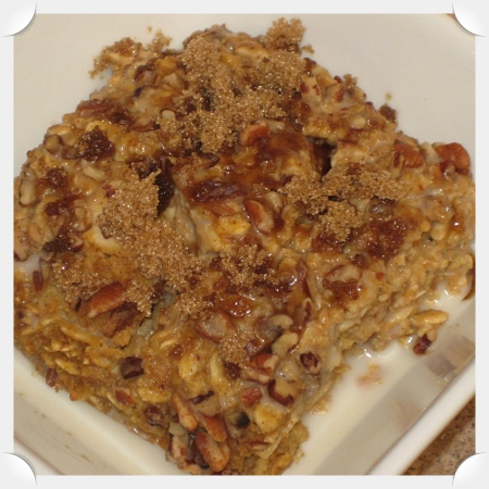 Pumpkin Cranberry Apple Baked Oatmeal