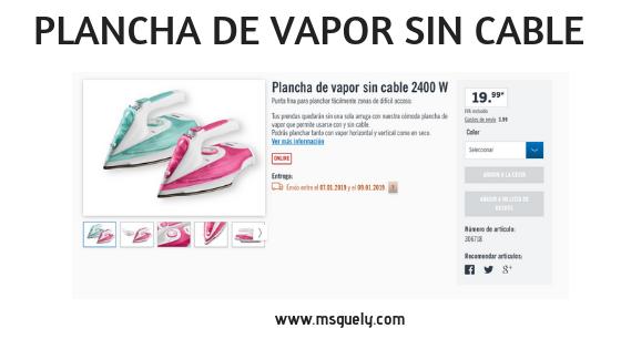 nueva llegada belleza online MsGuelyBlog: PLANCHA DE VAPOR SIN CABLE - SILVERCREST®