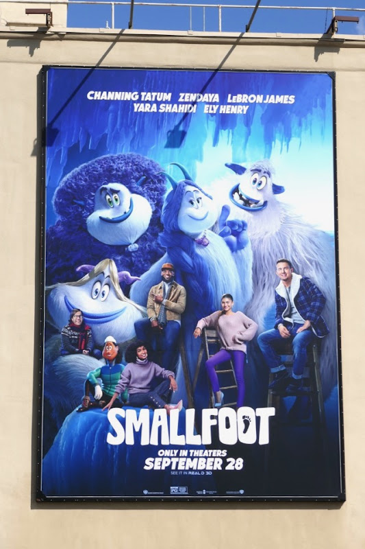 Smallfoot film voice talent billboard