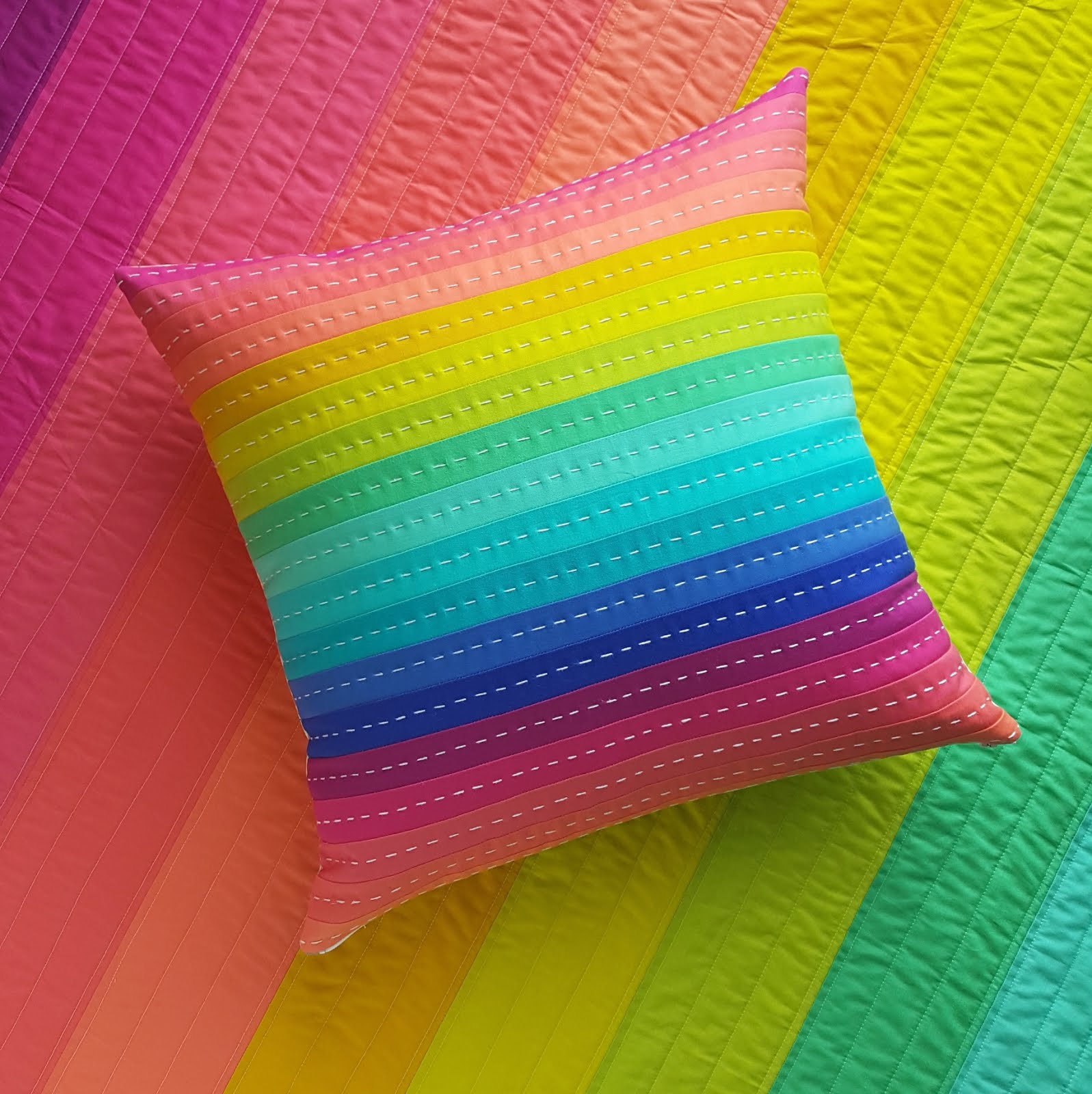 Rainbow Quilts and Pillow